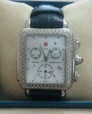 Michele Deco  Diamonds Leather Strap(Oj2 xpv1671/2391)