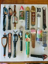 Draft Beer Keg Tap Handle Lot of 17 Dos Equis Abita Clown Shoes Flying Dog Avery
