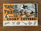 Vintage Halloween Trick Or Treat Cooky Cutters 6 In Box Complete