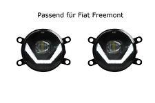 LED Nebelscheinwerfer + Tagfahrlicht Black Cree Chip für Fiat Feemont LSW4