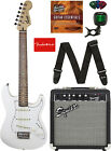Fender Squier Short Scale 24-Inch Strat Pack - Olympic White w/ Tuner for sale