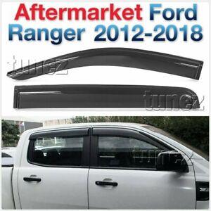 Window Door Visor Weathershield Weather Shield For Ford Ranger T6 PX MK1 MK2 2G