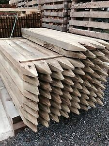 1.8m Green Tanalised Post 125x75mm 4 way pointed - Post & Rail Fencing - £11.65