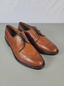 Allen Edmonds Walton Mens Walnut Brown Leather Split Toe Oxford Shoes 13 D