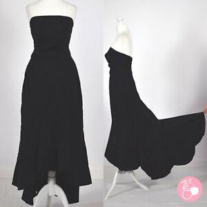 BLACK STRAPLESS, FISHTAIL, HOURGLASS 1930s ORIGINAL VINTAGE HOLLYWOOD DRESS 8