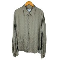 Armani Exchange AX Mens Button Up Shirt Size XL Long Sleeve Spotted
