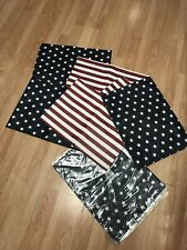 Set of 8 US STARS and STRIPES Place Mats from Kohl's Dept. Store 13 x 18 Plastic