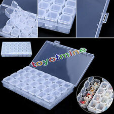 28 Slots Adjustable Storage Box Plastic Case Home Organizer Jewelry Beads Boxes