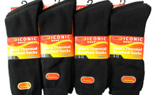 12 Pairs Mens Thermal Socks Outdoor Work Black Thermal Socks UK 6-11 ABS