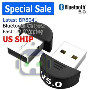 USB Bluetooth 5.0 Wireless Audio Music Stereo Adapter Dongle receiver 4 TV PC