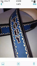 """Personalized 2 1/2"""" Custom Leather Guitar Strap"""