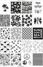 Dixie Plate Stamping Nail Art Accessories Summer 01 plate