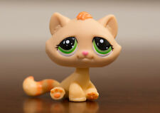 *Littlest Pet Shop* LPS  #1207 Orange Striped Tabby Cat w/ Green Eyes