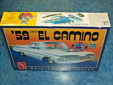 AMT 1058 1/25 1959 Chevy El Camino Original Art Series Car Model Kit New!