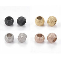 10 Pcs/20 Pcs 4mm/6mm/8mm Round Stainless Steel Stardust Beads Hole 2mm Crafts