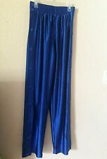 Eastbay Men's Sweat Pants Size Small Shinny Blue Snap Sides EUC Free Shipping