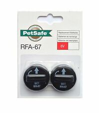 2 Genuine Petsafe RFA-67 Battery modules for Bark Control, Radio Fence Collars