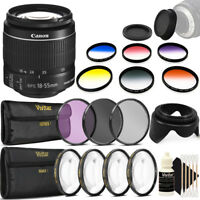 Canon EF-S 18-55mm f/3.5-5.6 IS II Lens + 58mm Accessory Kit for Canon T7 T7i T6