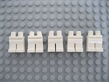 Five White Lego Mini Lower Body Parts/ Legs/ Trousers Brand New