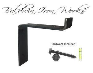 """Metal Shelf Bracket, Rustic, Industrial, Modern, Farm Style, 3/4"""" Front Lip"""