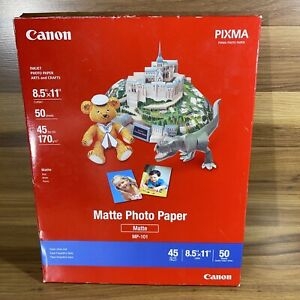 """Canon Matte Photo Paper MP-101 (8.5"""" X 11"""") 50 Sheets Open Box - Paper Is Sealed"""