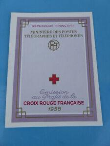 Carnet de 8 timbres Croix Rouge Française 1958 neuf