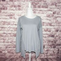 PLANET by Lauren G Women's Asymmetrical Top Gray One Size Fits all