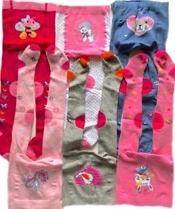 6 St. Set KRABBELSTRUMPFHOSE Strumpfhose Baby Mädchen ABS-Noppen Gr.86/92 92-98
