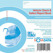 Novadata Vehicle Check & Daily Defect Report Pad 50 duplicate pages PCV