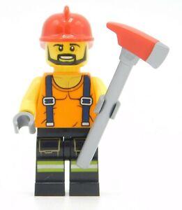 Lego Minifigure Fireman with Ax