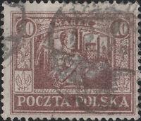 POLOGNE / POLAND - UPPER SILESIA 1922 Mi.14 p.12 1/2 - 10Mk Brown VF Used