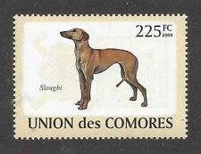 Dog Art Body Portrait Postage Stamp SALUKI SLOUGHI Comores Africa 2009  MNH