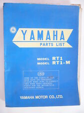 manuel pieces detachées moto YAMAHA 360 RT1 et RT1M  TRAIL MONO  1970 PARTS-LIST