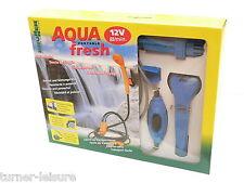 AQUA FRESH 12v QUALITY PORTABLE SHOWER AND WATER PUMP 8/litre per min motorhome