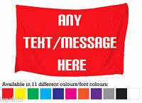 PERSONALISED 5FT X 3FT FABRIC BANNER FLAG 11 DIFFERENT COLOURS L&S PRINTS