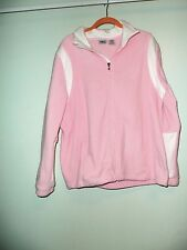Women's Athletic Works light weight  Pink & White  jacket-Size XL 16-18