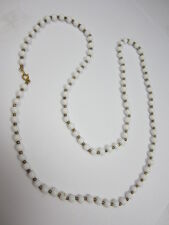 Beaded Necklace White Glass