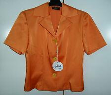 Giacca donna maniche corte tessuto lucido color arancio taglia 42 - 44