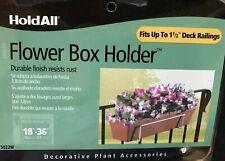 Panacea 85877 HoldAll Basic Fence or Deck Railing Flower Box Holder, White 2pc