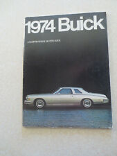 1974 Buick advertising booklet for LeSabre Electra Riviera Century Apollo cars