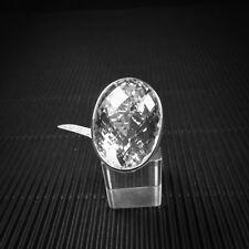 Ring Gr. 55 Silber 925 mit Bergkristall, facetiert