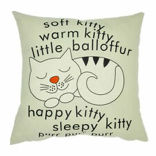 Cat Pillow Case Sofa Waist Throw Cushion Cover Home Decor New Gift N3