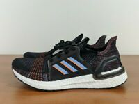 Adidas UltraBoost 19 Men's Running Shoes Sneakers Black Glow G54011 Size 10