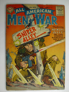 All American Men of War #34, Sniper Alley, VG-, 3.5 (C), OWW Pages