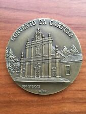 Beautiful antique and rare bronze medal of convent of the carthusa in Oeiras