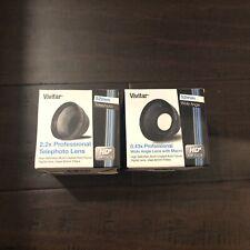 Vivitar 52mm Lens Kits .43x Wide Angle + Macro & 2.2x Telephoto BRAND NEW