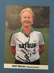 Wolf Werner Autogrammkarte Borussia Mönchengladbach