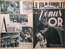 "LE FILM COMPLET 1938 N 2161 "" LA VENUS DE L' OR"" MIREILLE BALIN - SATURNIN FABRE"