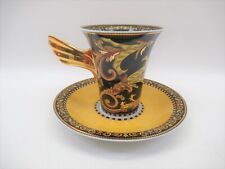 """Versace Barocco by Rosenthal-Continental 3.5"""" Flat Cup & Saucer"""