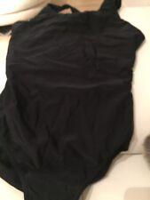 Black Lycra Leotard Suit Leotard  Bodysuit Swimwear Size Small Open Backed Tombo